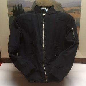 Men's Black Large Warm Bomber Jacket